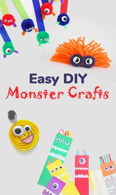 "If your children love cartoons ""Corporation of monsters"", ""Monsters University"" or ""Hotel Transylvania"" then you should go ahead and create these absolutely adorable DIY monster crafts. Thank you One Little Project, Blue Bear Wood, The Craft Train, Whispered Inspirations for cool Ideas and pictures. #diy #diyforkids #diycraft #childrenactivities #papercraft #games #trollDIY #trolls #cartoon #kidcrafts"