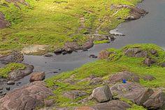 Foto de Loch Coriusk na Ilha de Skye, na Escócia.  Parte da Grã-Bretanha Express Travel and Heritage Library Imagem, coleção Escócia.