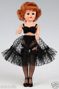 Offered for sale in a 10 day Ebay auction. Vogue-Jill-Doll-Black-Lace-Lingerie-Pack-Shoes-Hose-Only-2011-New-MIP