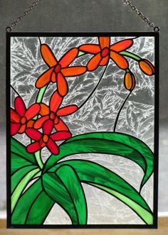 Coreopsis Stained Glass Panel by RedfordGlassStudio on Etsy, $75.00