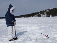 An ice fisher plays the waiting game @nwtfishing