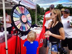 The prize wheel is spinning like crazy at Gadsden Riverfest! Don't forget to stop by the Jack's tent for your chance to win something awesome! Buy this Prize Wheel at http://PrizeWheel.com/products/floor-prize-wheels/floor-table-black-clicker-prize-wheel-18-slot/.