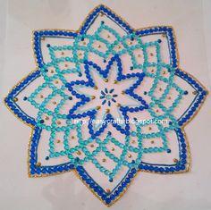 Single piece navratri kolams in kundan stones for sale Details at http://ecindianhandicrafts.blogspot.com/ Contact : easycrafts@gma...