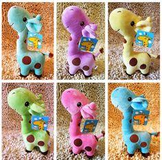 25cm Giraffe New Arrival Hot Sale Deer PP Cotton Plush Toy Stuffed Animals Doll Wedding Birthday Gift 6 color