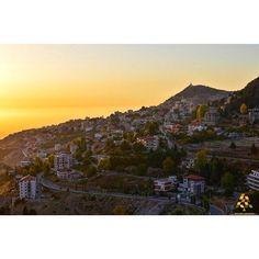 LEBANON, SUNSET AT EHDEN