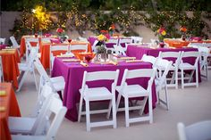 nice table setting for summer