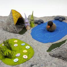Felt Play Mat #Childhoodin.me #waldorfinspired #feltcraft #woolentoys #woolfelt #playmat #naturetable #naturecorner #wool #imaginativeplay #toddler #duck #pegdolls #pond #felttoy #naturalwoolfelt #natural #creative #craft #handmade #handwork #failrytale #feltdoll #felt #wool #toy #woolfelt #feltcraft #naturetable #doll #pegdolls