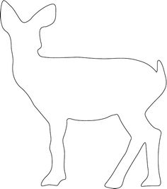 Deer Template for a tshirt applique