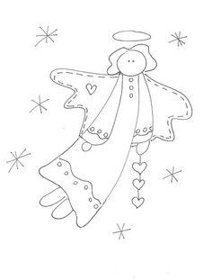 Aujourd' hui je me suis lâchée lol !!! je vous ai dessiné quelques modèles naïf country de Noël , donc libre de droit , je vous les... Folk Embroidery, Christmas Embroidery, Hand Embroidery Patterns, Cross Stitch Embroidery, Cross Stitch Patterns, Quilt Patterns, Machine Embroidery, Primitive Patterns, Primitive Crafts