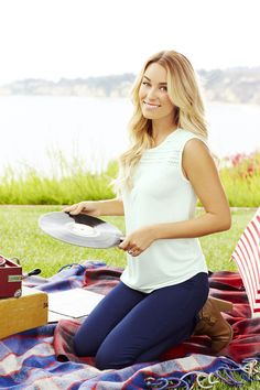 Go nautical in navy and white. LC Lauren Conrad at #Kohls