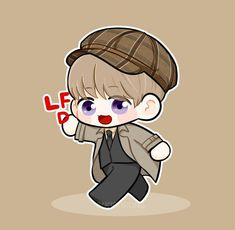 Baekhyun fanart Baekhyun Fanart, Chanbaek Fanart, Kpop Fanart, Chanyeol, Exo Cartoon, Exo Fan Art, Bts Chibi, Watercolor Art, Kawaii