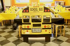 Wheels on the Bus-School Bus Bash-Kids Table-Bus Photo Op Prop