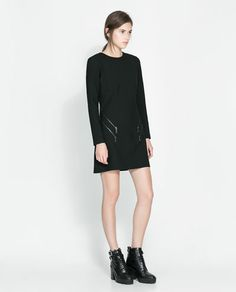 Image 1 of DRESS WITH ZIPS from Zara