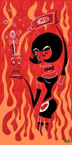 Femme Brulee – By Artist Nan Coffey Arcylic On Canvas 12x24 - Limited Edition of 95 Prints on Canvas - Available Now! NanWasHere.com