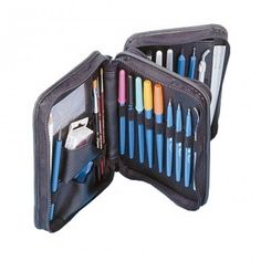 Pergamano Tool Wallet - Pergamano has designed a beautiful compact tool wallet, which can hold perforating and embossing tools, mapping pens, brushes and a lot more of your Pergamano  tools.  The wallet also has a compartment for your business cards.
