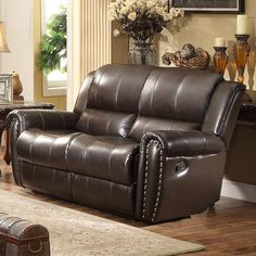 Bosworth Leather Reclining Loveseat