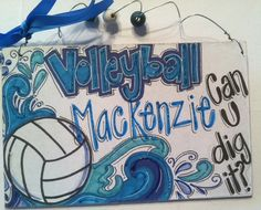 New Volleyball sign - personalized for your favorite player or team