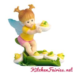 Deviled Egg Fairie - From Series Thirty Eight of the My Little Kitchen Fairies collection