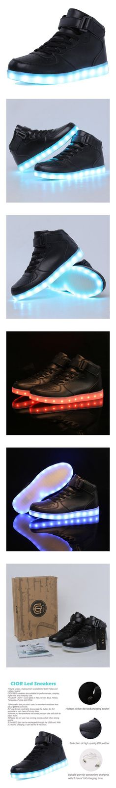 CIOR Mens Womens Boys Girls 11 Colors Led Sneakers Light Up Flashing Shoes For Halloween,101B,01 #shoes #cior #2016