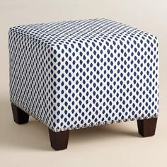 One of my favorite discoveries at WorldMarket.com: Sahara McKenzie Upholstered Ottoman