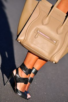 Celine Mini Luggage in Camel