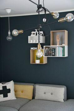 Nyanser av blått Wall Lights, Studio, Lighting, Inspire, Inspiration, Home Decor, Design, Living Room, Biblical Inspiration