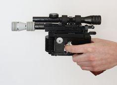 Han Solo's DL-44 Blaster Pistol Built With LEGOs