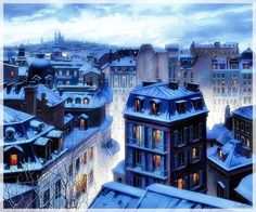 Eugene Lushpin - Roofs of Paris