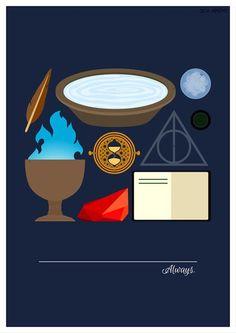 Harry Potter minimalist poster series- Harry Potter always