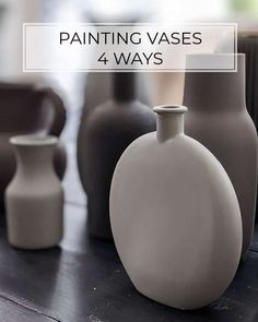 How to Paint a Vase - Ways to Update Cheap Glass Vases Spray Painting Glass, Spray Paint Vases, Ceramic Painting, Diy Painting, How To Paint Glass, Painting Vases, Ikea Vases, Vases Decor, Decorating With Vases
