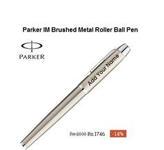 #Buy #Customized #Parker IM Brushed Metal Roller Ball #Pen #Online India.