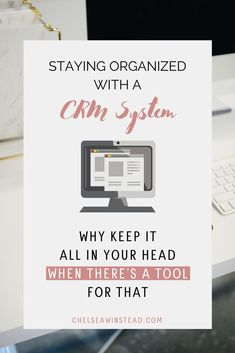 Stay Organized with a CRM System for Business Business Planner, Business Tips, Online Business, Business Education, Entrepreneur Motivation, Business Entrepreneur, Home Business Organization, Organization Ideas, Management Tips