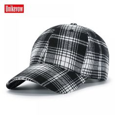 8df651be0d484 Brand UNIKEVOW Fashion New Arrival Snapback Hat Men Hip Hop Cap Baseball Cap  Fashion plaid design Hat for men and women • DREAM EMARKET