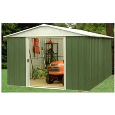 Yardmaster Metal Garden Shed, 10 X 10, 10 Year Guarantee, Apex RF