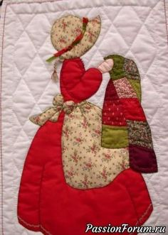 42 Ideas For Embroidery Patterns Girl Sunbonnet Sue Baby Patchwork Quilt, Patchwork Quilt Patterns, Modern Quilt Patterns, Quilt Patterns Free, Baby Quilts, Doily Patterns, Dress Patterns, Sunbonnet Sue, Quilting Designs