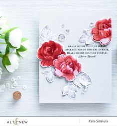 With different writing styles, these sentiments are not only perfect for quick and small greetings on your projects, but also great for inside of a card. Pair them with our floral stamps, geometric st