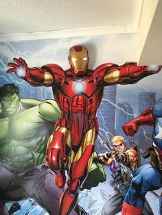 The Avengers Walltastic Marvel Avengers Assemble Wall Murals | littlewoods.com