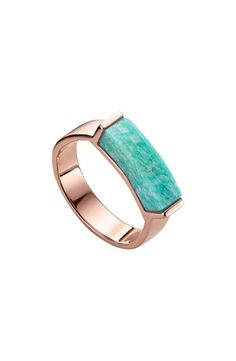 Monica Vinader Engravable Linear Stone Ring In Harrods Rose Jewelry, Jewellery, Jewelry Rings, Jewelry Quotes, Harrods, Ring Designs, Cuff Bracelets, Gemstone Rings, Rings For Men