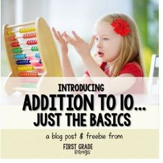 Keep it simple when introducing the concept of addition to young students... rigor is important, but first they must master the basic concepts.