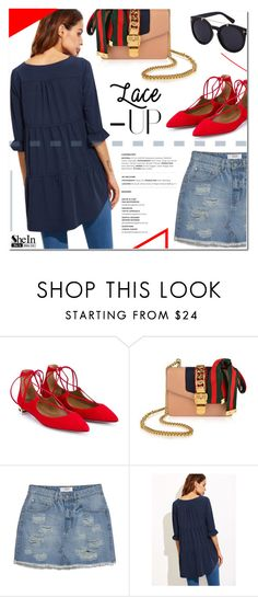 """""""Sylvie"""" by fee4fashion ❤ liked on Polyvore featuring Aquazzura, Gucci and MANGO"""