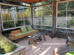 old windows ~ deck/patio wind break