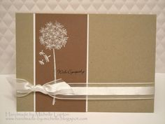 Perfect sympathy card, but good CAS layout for any occasion