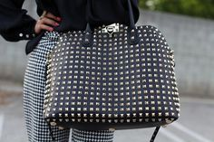 i love studded bags... this one is studded all over!