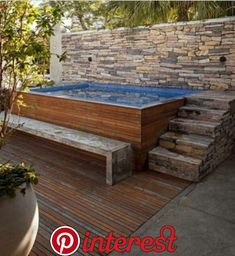 patio designs with hot tub Ideas Backyard Pool Above Ground Hot Tubs For 2019 Hot Tub Backyard, Small Backyard Pools, Small Pools, Swimming Pools Backyard, Swimming Pool Designs, Small Patio, Backyard Patio, Backyard Ideas, Mini Swimming Pool