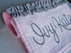 Custom Burp Cloth with Ruffle