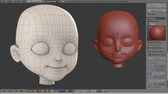 """Character Creation Timelapse Part 1 """"Head modeling"""""""