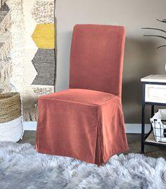 IKEA Henriksdal Dining Chair Cover, Blush Pink Velvet   affordable, designer, custom, handmade, trendy, fashionable, locally made, high quality Ikea Dining Chair, Dining Chair Covers, Henriksdal Chair Cover, White Trellis, Black Linen, Pink Velvet, Slipcovers, Floor Chair, Blush Pink