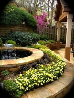 Beautiful garden landscaping ideas with water feature