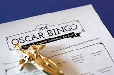 2012 Oscar bingo and ballots