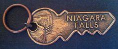 NIAGARA FALLS WATER CHUTE CANADA USA NY NEW YORK KEY CHAIN SOUVENIR  GIFTS